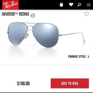 Ray Ban aviators silver flash lenses